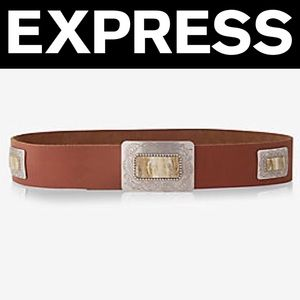 ✨NWT✨Express Leather Southwestern Prong Buckle Bel